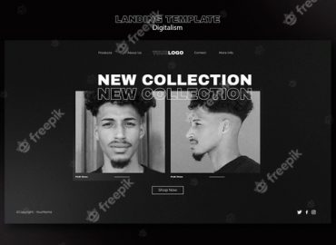 Digital shopping web page with photo Free Psd